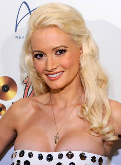 Holly Madison Long, Curly Blonde Hairstyle