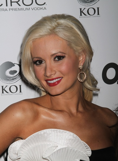 Holly Madison Sophisticated, Blonde Updo