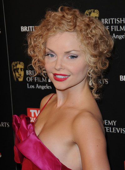 Izabella Miko Romantic, Curly, Tousled Updo