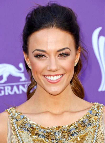Jana Kramer's Brunette, Wavy, Party, Ponytail Hairstyle