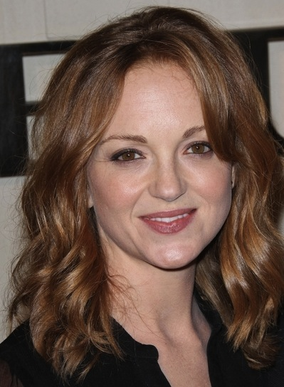 Jayma Mays Medium, Wavy, Sophisticated, Red Hairstyle