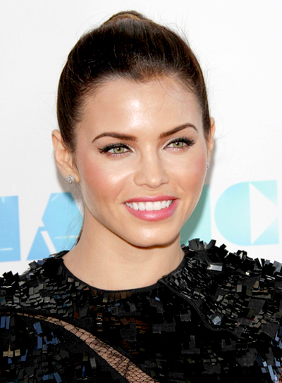 Jenna Dewan's Chic, Sophisticated, Brunette, Ponytail Hairstyle