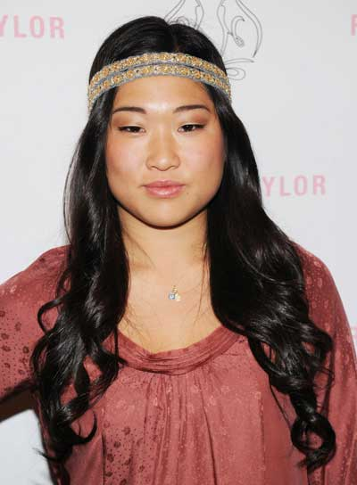 Jenna Ushkowitz Long, Curly, Funky, Black Hairstyle