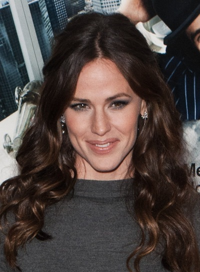 Jennifer Garner Long, Sophisticated, Prom, Brunette Half Updo