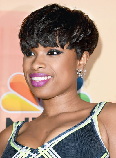 Jennifer Hudson with a Short, Black, Edgy, Party Hairstyle Pictures