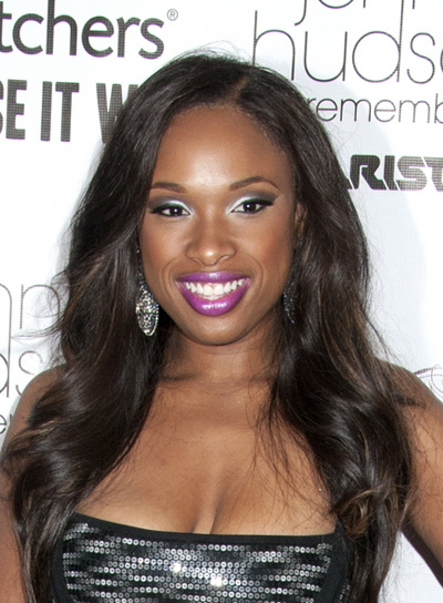 Jennifer Hudson Long, Curly, Black Hairstyle