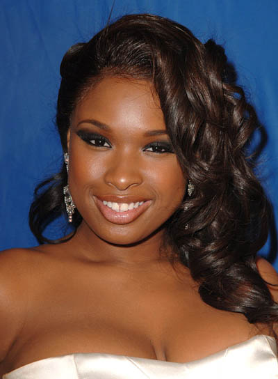 Jennifer Hudson Long, Curly, Formal Hairstyle