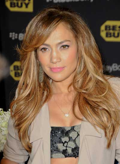 Jennifer Lopez Layered, Sexy Hairstyle