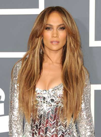 Jennifer Lopez Long, Tousled, Sexy, Blonde Hairstyle