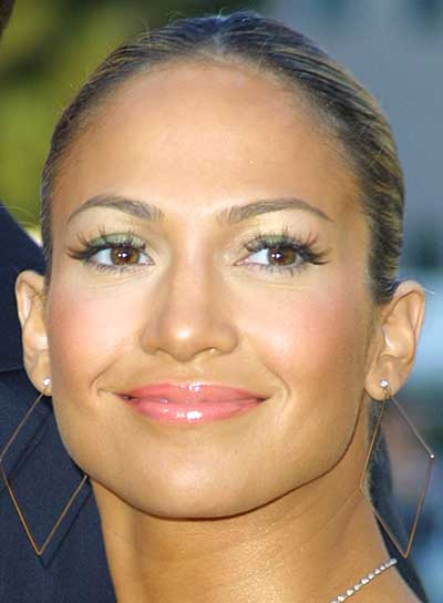 Jennifer Lopez Brunette, Straight Ponytail