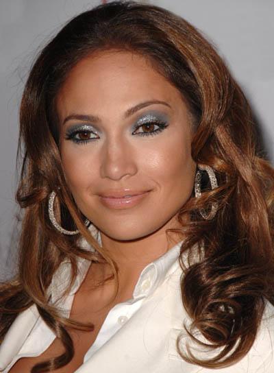 Jennifer Lopez Brunette, Wavy, Tousled Hairstyle