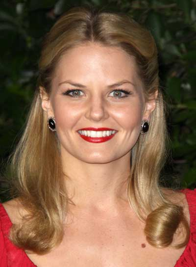 Jennifer Morrison Medium, Romantic, Blonde Half Updo