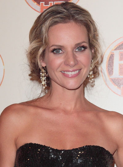 Jessalyn Gilsig Romantic, Curly, Blonde Updo