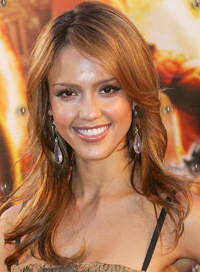 Jessica Alba Long, Layered Hairstyle