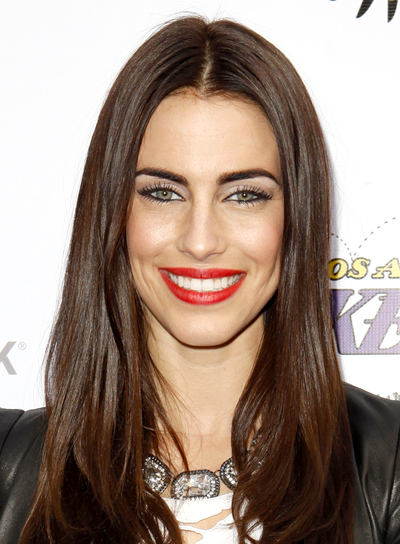 long brunette hair styles lowndes riot 2208 | jessica lowndes long brunette straight chic hairstyle