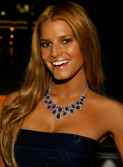 Jessica Simpson Long, Blonde Hairstyle
