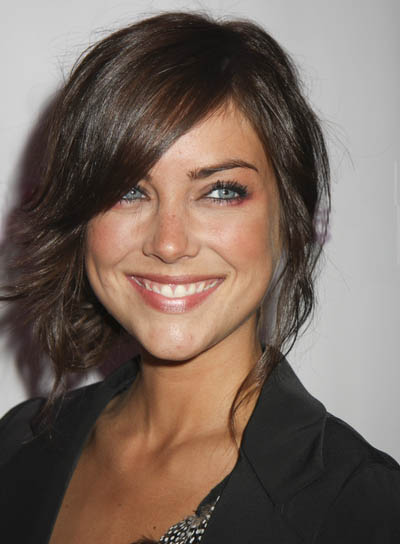 Jessica Stroup Straight, Brunette Updo