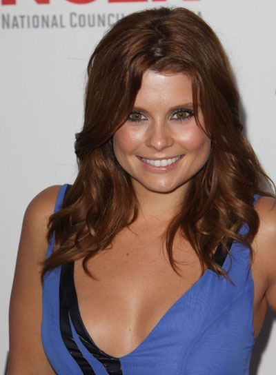 Joanna Garcia Medium, Wavy, Romantic, Red Hairstyle