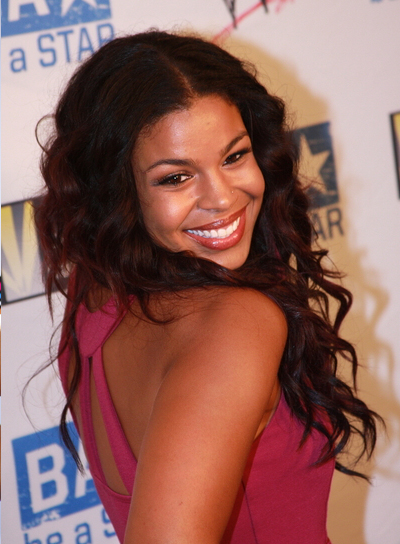 Jordin Sparks Curly, Thick, Black Hairstyle