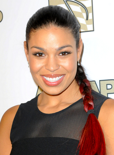 Jordin Sparks' Long, Edgy, Funky, Party, Ponytail Hairstyle