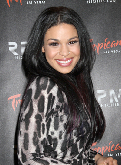 Jordin Sparks Long, Straight, Chic, Black Hairstyle