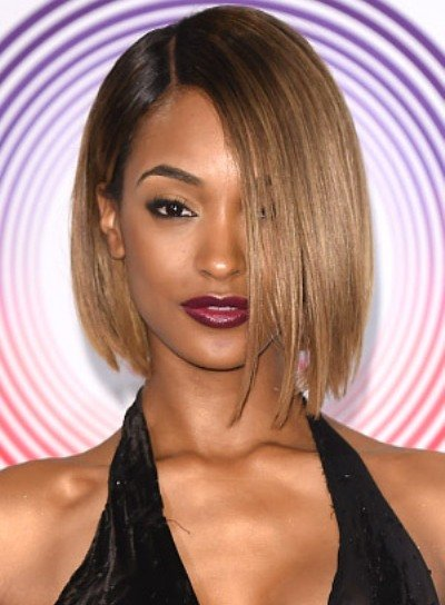 Jourdan Dunn with a Short, Straight, Edgy, Bob Hairstyle Pictures