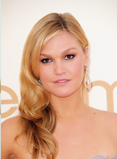 Julia Stiles Wavy, Romantic, Blonde Hairstyle