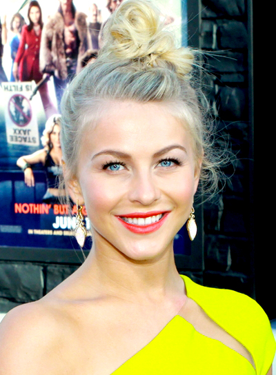Julianne Hough's Sexy, Blonde, Edgy, Updo Hairstyle