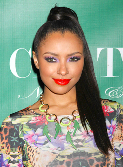 Kat Graham's Long, Chic, Straight, Ponytail Hairstyle