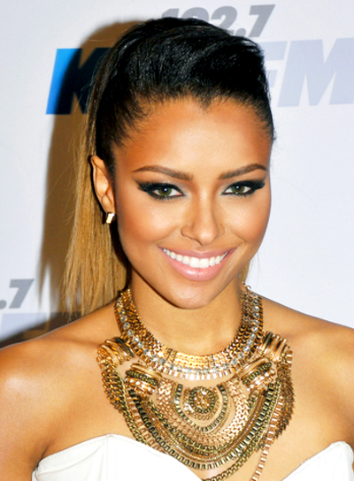 Kat Graham's Long, Edgy, Chic, Ponytail Hairstyle