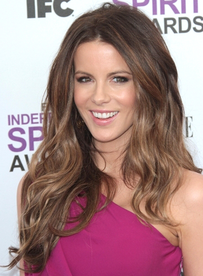 Kate Beckinsale Long, Sexy, Thick, Brunette, Party Hairstyle