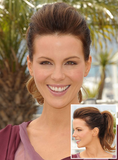 Kate Beckinsale Romantic, Brunette Ponytail