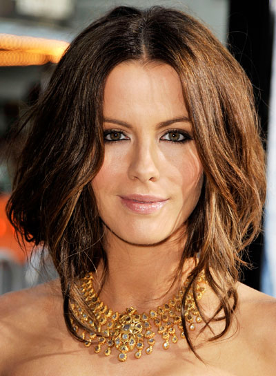 Kate Beckinsale Funky, Brunette Updo