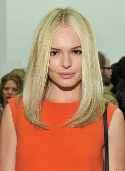 Kate Bosworth Long, Straight, Layered, Sophisticated, Blonde Hairstyle