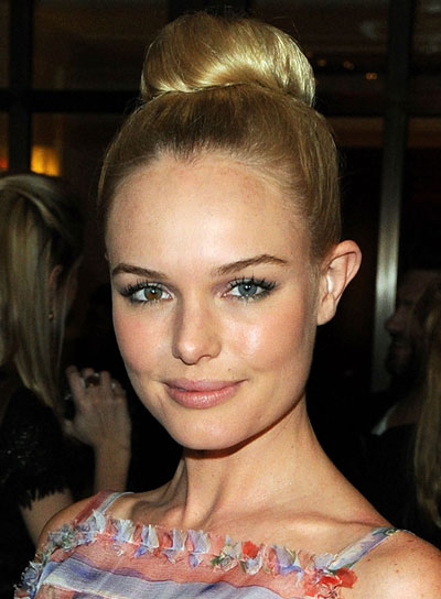 Kate Bosworth Straight, Romantic, Blonde Updo