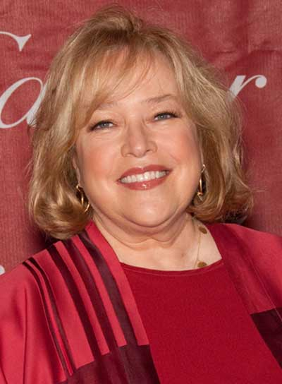 Kathy Bates Short, Straight, Blonde Bob with Bangs
