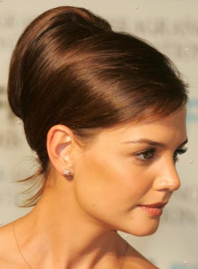Katie Holmes Sophisticated, Brunette Updo