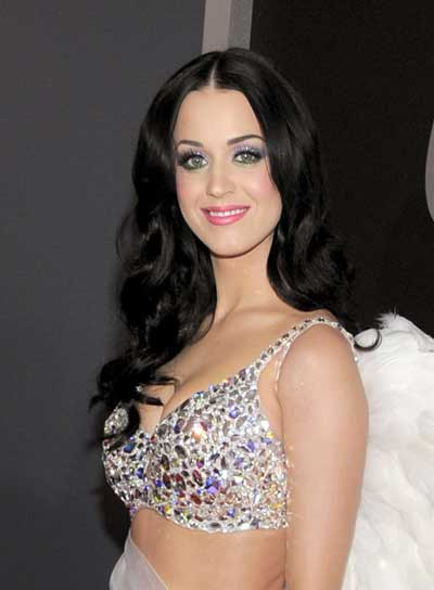 Katy Perry Long, Curly, Romantic, Black Hairstyle