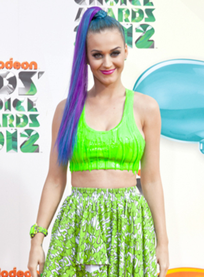 Katy Perry's Long, Straight, Party, Ponytail Hairstyle