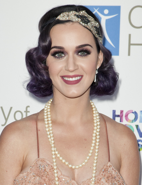 Katy Perry's Short, Romantic, Funky, Party Hairstyle