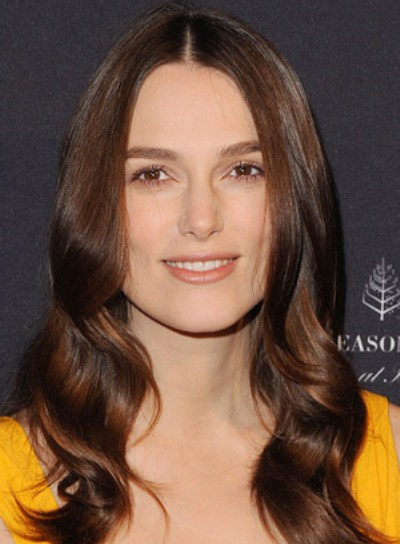 Keira Knightley with a Long, Brunette, Romantic, Wavy Hairstyle Pictures