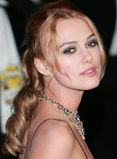 Keira Knightley Half Updo for Prom