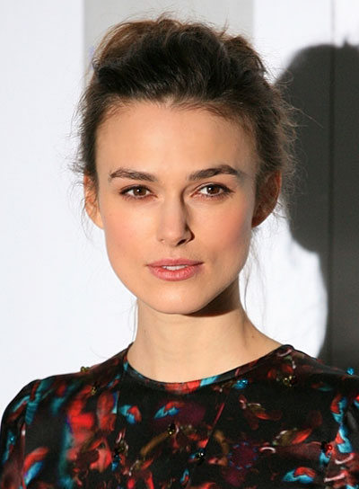 Keira Knightley Tousled, Romantic Updo