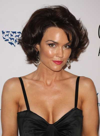 Kelly Carlson Short, Tousled, Sophisticated, Brunette Bob