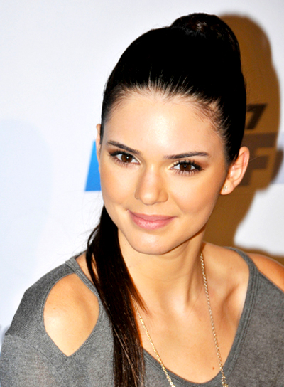 Kendall Jenner's Long, Brunette, Straight, Ponytail Hairstyle