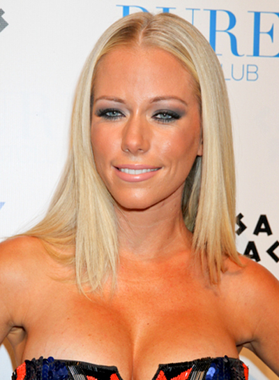 Kendra Wilkinson's Long, Chic, Straight, Blonde Hairstyle