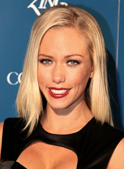 Kendra Wilkinson's Long, Straight, Blonde, Party, Hairstyle