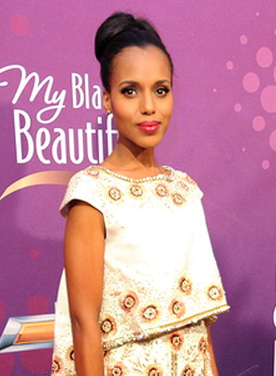 Kerry Washington's Chic, Party, Updo Black Hairstyle