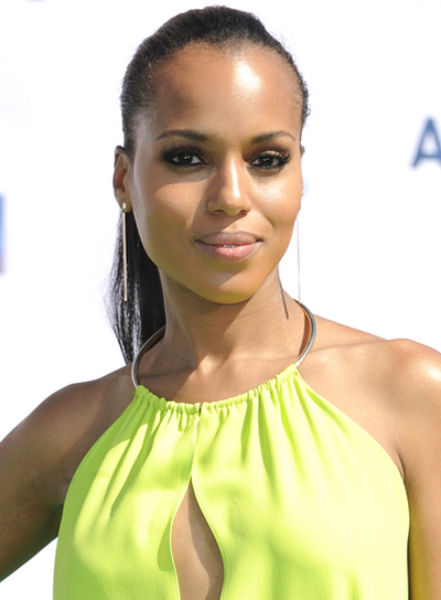 Kerry Washington Long, Straight, Sophisticated, Black Ponytail