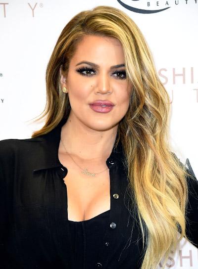 Khloe Kardashian's Long, Blonde, Wavy, Tousled, Sexy Hairstyle